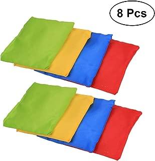 LIOOBO 8PCS Nylon Cornhole Bags Kids Bean Bags Toys for Corn Hole Game