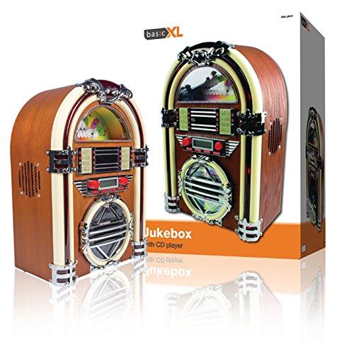 basicXL BXL-JB10 Jukebox jaren 60 design CD-speler (2x 2 Watt)