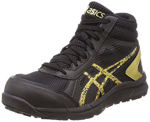 [アシックス] 安全靴/作業靴 ウィンジョブ CP104 JSAA A種先芯 耐滑ソール ブラック/ゴールド 25.0 cm 3E