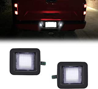 TurningMax LED License Plate Light Lamp Assembly For 2015-2019 Ford F-150 Pickup Truck For 2015-up Ford F150,  2017-up Ford Raptor