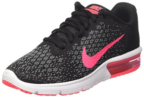 Nike Wmns Air Max Sequent 2 - Zapatillas de deporte Mujer, Negro (Black/racer Pink/anthracite/cool Grey/wolf Grey/white), 39