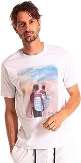 (チルコロ1901) CIRCOLO 1901 綿100% グラフィックプリント クルーネック 半袖 Tシャツ [CICN2679] [並行輸入品]