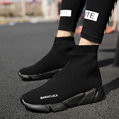 Shukun enkellaarzen herfst en winter korte laarzen stretch doek sokken schoenen grote maat schoenen kleine vrouwen schoenen platform schoenen