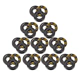 CNBTR 4 x 9 x 4mm Miniature Steel 3-Parts F4-9M Axial Ball Thrust Plane Bearings Pack of 1...