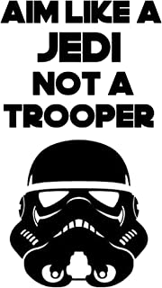 Aim Like a Jedi and not a Trooper-Toilet seat lid Decal (7x11, Black)