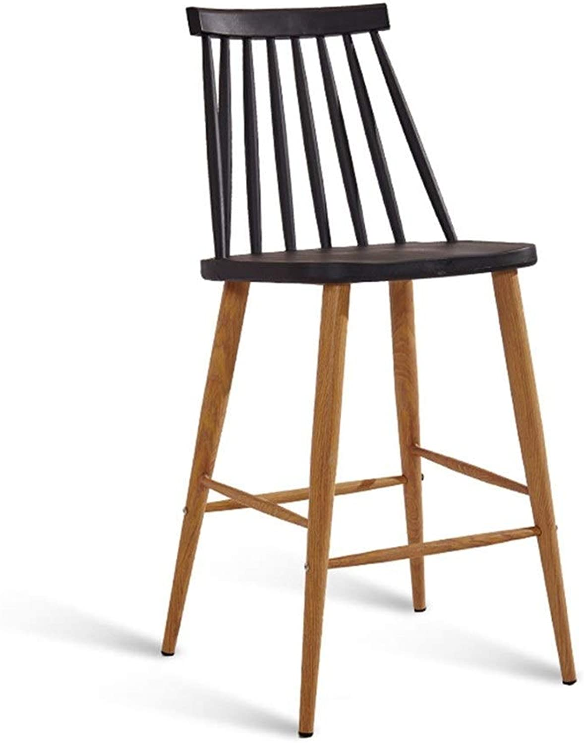 Floor-Standing high Bracket Bar Chair Modern Simple High Stool Bar Table and Chair Bar Stool Industrial Wind High Leg Bar Chair Suitable for Counter Kitchen Breakfast Chairs