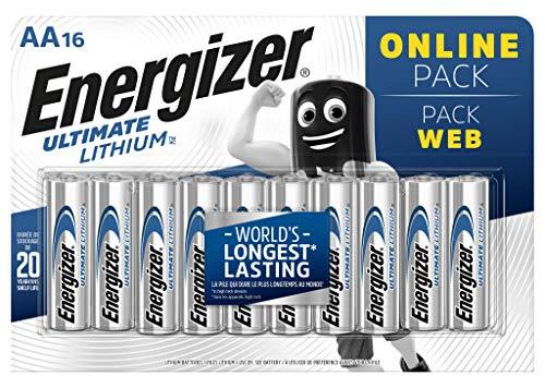 Energizer Batterie AA, Ultimate Lithium, Confezione da 16