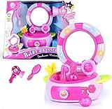 Fille habiller maquillage jouets, enfants ensemble simulation salon de coiffure, boîte à lumière Musique Flash, jouets maison de jeu, cadeau enfants des enfants