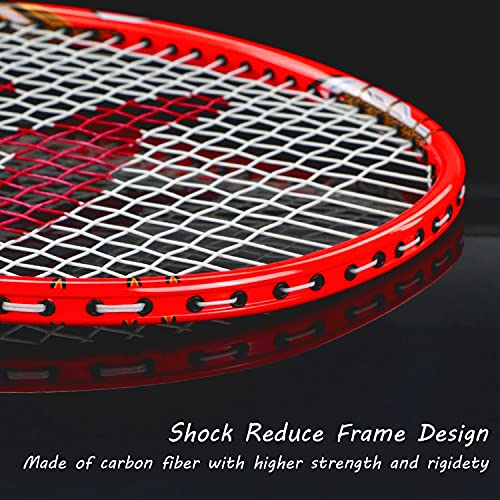 Philonext 2 Pack Badminton Rackets with 3 Shuttlecocks & Carrying Bag & 2 Overgrip, Sports Carbon Fiber Lightweight Badminton Racquet for Professional & Beginner Players