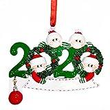 WELLXUNK Adornos Navidad Colgantes Muñeco Familia Sobrevivido Adornos de árbol de Navidad 2020 Adornos de Adorno de Navidad, Accesorios de casa, Adornos navideños Decoraciones (4A Heads)