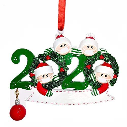 WELLXUNK® Adornos Navidad Colgantes Muñeco Familia Sobrevivido Adornos de árbol de Navidad 2020...