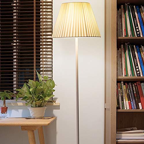 LMYMX Standleuchte modern LED, Leselampe Jugendstil Lampenschirm aus Stoff, mit Fernbedienung Stehlampe E27 für Das Wohnzimmer, Schlafzimmer,Dimmer Switch Warmer