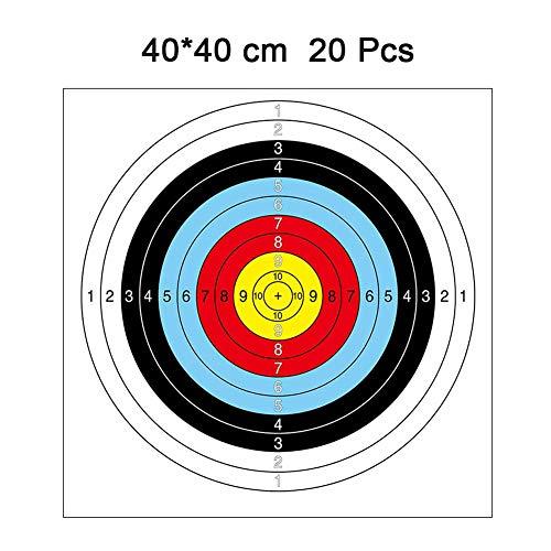 Bogenschießen Papier Ziele Pfeil Ziele schießen Zubehör Ideal für Spiel und tägliche Praxis verwenden Outdoor Shooting Practice 20 Pcs