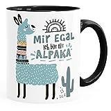 SpecialMe Kaffeetasse Spruch Mir egal ich bin ein Alpaka