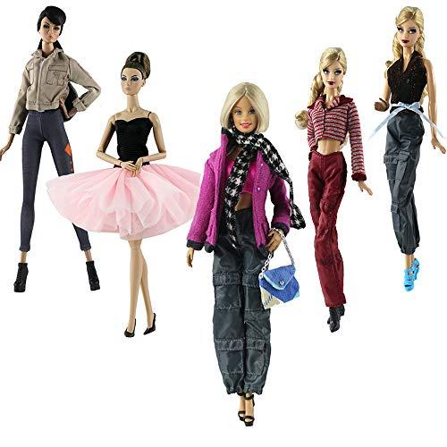 Ropa Para 29cm Muñecas, Lance Home 5 Conjuntos Moda Abrigo de otoño Vestidos Pantalones Zapatos Sombrero Rompevientos Para 11.5' Muñecas Accesorios Bebé Regalos
