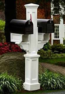 Mayne Inc. 5811 Rockport Double Mailbox Post Color: Clay