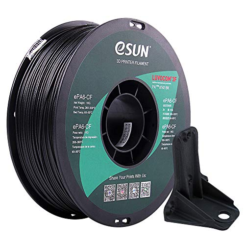eSUN Enhanced Carbon Fiber Filled Nylon Filament 1.75mm, 3D Printer Filament PA12-CF, Dimensional Accuracy +/- 0.05mm, 1KG (2.2 LBS) Spool 3D Printing Filament for 3D Printers, Natural