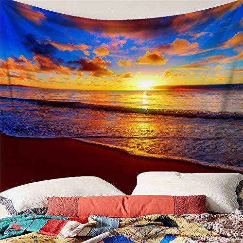 mmzki Decoración del hogar Paisaje nostálgico Tapiz de Dormitorio Arte Tapiz de Pared Toalla de Playa Y 150X200