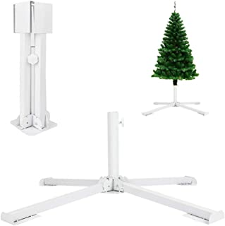 GKanMore Artificial Christmas Tree Base Stand 4-Tripods Foldable Metal Base Stand Holder for Artificial Xmas Tree, Patio U...