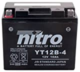 NITRO YT12B-4 -N- Batterie Moto AGM Fermé