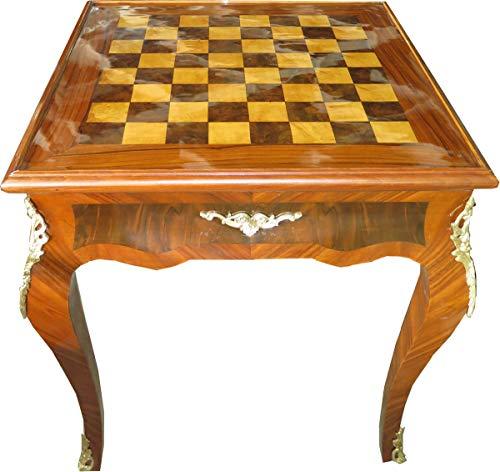Casa Padrino Art Deco Mesa de Juego Mesa de ajedrez/chaquete Caoba Claro 65 x W 65 x H 71 cm - Barroco Muebles Antiguos