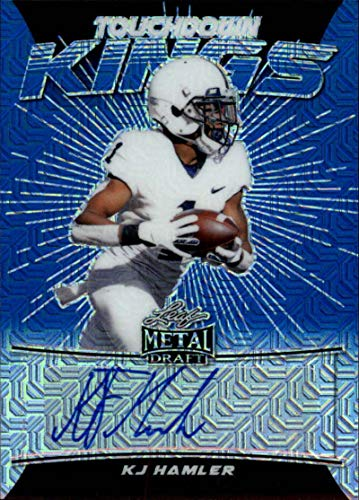 2020 Leaf Metal Draft Touchdown Kings Autograph Mojo Blue Football S15#TK-KH2 KJ Hamler Auto Penn State Nittany Lions Official Player Licensed Rookie Card