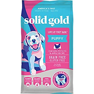 Solid Gold – Love at First Bark – Natural Dog Puppy Food – Holistic Superfoods Rich Food for Puppies of All Sizes & Breeds 4lbs