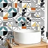 CACAIMAO Pegatinas De Azulejos De Mosaico 3D, PVC Impermeable Y Decoración De Paredes A Prueba De Aceite, Sala De Estar Dormitorio Baño Decoración Pegatinas De Pared 10 Piezas 15cm*15cm