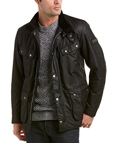Barbour International Men's Duke Wax Jacket - Black - L - Black