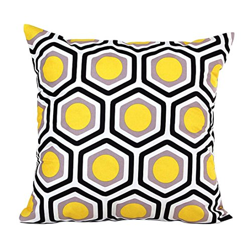 Vovotrade Originale Forme Géométrique Canapé-lit Home Décor Housse de Coussin d'oreiller de Cas (Jaune)