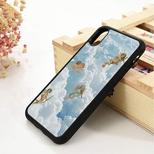 WGOUT para iPhone 5 5S 6 6S Funda de Gel de sílice de TPU Suavepara iPhone 7 Plus X XS 11 Pro MAX XR Funda de Cuero para teléfono Cupid Angel, para iPhone 6S Plus