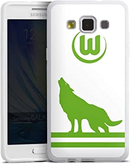 DeinDesign Silikon Hülle kompatibel mit Samsung Galaxy A5 2015 Case weiß Handyhülle VFL Wolfsburg Fußball Offizielles Lizenzprodukt