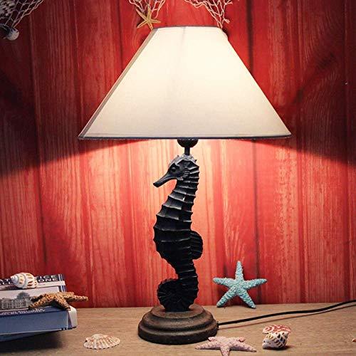 Lámpara de luz del techo LED Multicolor Mediterráneo / Marine Viento / Hipopótamo Lámpara de mesa Dormitorio de noche Decoración de la cama Antigua Crack Craft Tabla Lámpara Lámpara Lámpara-6223R4x2l