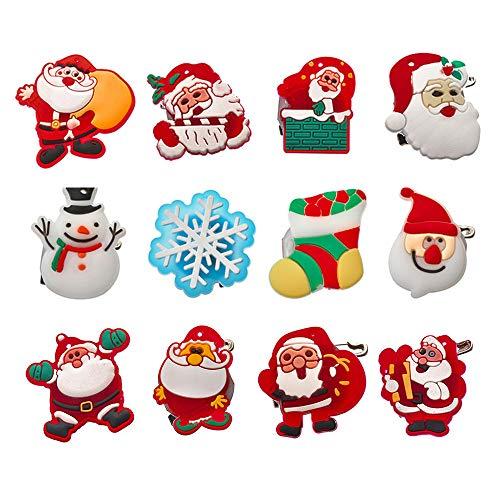 Godagoda unisex broche persoonlijk cartoon kerstman patroon glitter design clip sieradennaald hanger spelden voor sjaals mantel poncho's