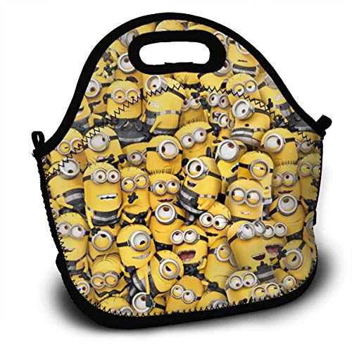 Minions Soft Neoprene Lunch Tote Bag Lightweight Insulated and Reusable