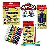 CYP BRANDS - Set Lápices, Acuarelas y Rotuladores Mágicoss, Material Escolar para Colorear, Play Doh