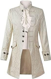 Mens Gothic Tailcoat Jacket Steampunk Victorian Tuxedo Uniform Halloween Costume Coat