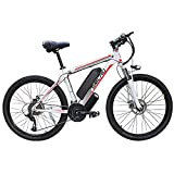 YYAO 26'' Electric Mountain Bike Removable Large Capacity Lithium-Ion Battery (48V 350W), Electric Bike 21 Speed Gear Three Working Modes