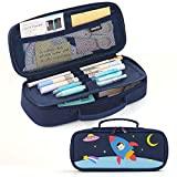 EASTHILL Pencil Case Medium Capacity Color Pencil Bag Cute Pencil Pouch with Zippers Stationery Organizer Storage Office School Gift for College Student Teen Girl Women Adult Cat