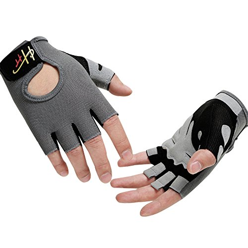 YHT Workout Gloves, Full Palm Protection & Extra Grip, Gym Gloves for Weight Lifting, Training, Fitness, Exercise (Men & Women)