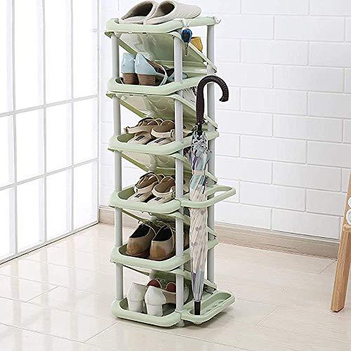 Unifamiliar del zapato de zapatos de plástico, el almacenamiento de calzado de múltiples capas de rack 28 * 32 * 101cm,C