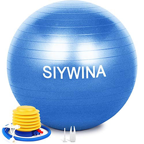 SIYWINA Fitness Pelota de Ejercicio Pelota de Pilates Embarazadas Anti Explosión Yoga Ball para Equilibrio Fitness Entrenamiento