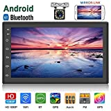 Camecho Android Double Din Car Stereo with Bluetooth GPS Navigation Radio Receiver 7