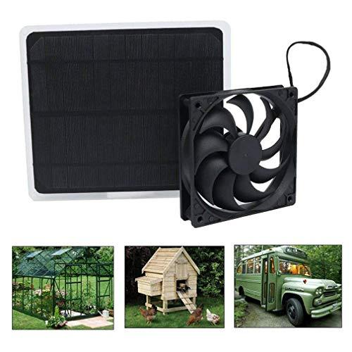 12V Solarmodul Solar Fan Solarpanel Powered Lüfter Fan mit USB für Hühnerstall Hundehütte Gewächshaus Wohnmobil Kutsche Camping Usw