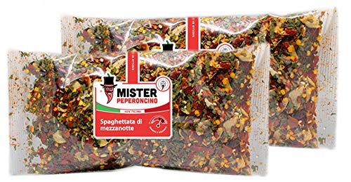 Spaghettata di Mezzanotte (90gr x 2) - Preparato per pasta piccante all'arrabbiata, pronto in pochi minuti - Mister Peperoncino