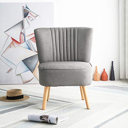 Harrogate Fabric Accent Occasional Tub Chair Armchair Lounge Bedroom Dark Grey