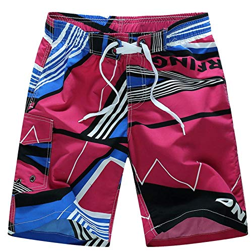 ZOMER POLYESTER COTTON BEACH FITNESS,Heren strand shorts, zomer sneldrogende ademende losse print,Zomer Korte Broek voor Mannen, Jongens