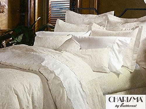 Charisma by Fieldcrest Made in USA - Jules Full/Queen Mini Duvet Set, Color Parchment …