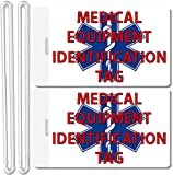 2X Medical Equipment Identification Luggage Tags TSA Carry-On CPAP BiPAP Sleep APNEA POC