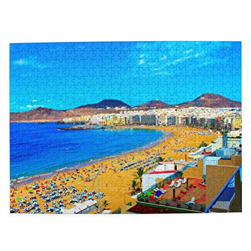 España Roque Nublo Las Palmas Gran Canaria Rompecabezas para Adultos, 500 Piezas de Madera, Regalo de Viaje, Recuerdo, 20.4 x 15 Pulgadas
